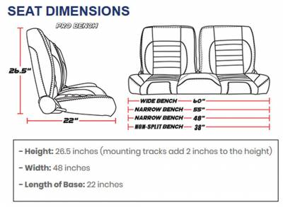 TMI Products - TMI Pro Series Sport XR Low Back w/Headrest Bucket Seats - Universal - Image 7