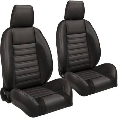 TMI Products - TMI Pro Series Sport R Low Back Bucket Seats w/Headrests for Chevelle, El Camino
