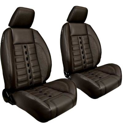 TMI Products - TMI Pro Series Sport XR Low Back w/Headrest Bucket Seats for Chevelle, El Camino