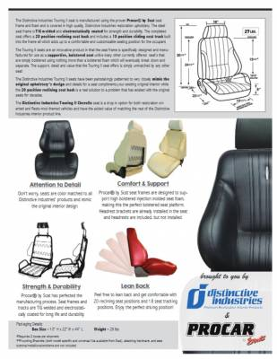 Distinctive Industries - 1970 Chevelle Touring II Front Bucket Seats Assembled w/Rear Seat Upholstery (Coupe) - Image 3