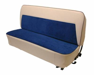 Acme Auto Upholstery - Chevy, GMC Truck 2nd Series 1955-1959 Std Cab Bench Two Tone Cameo Look Upholstery