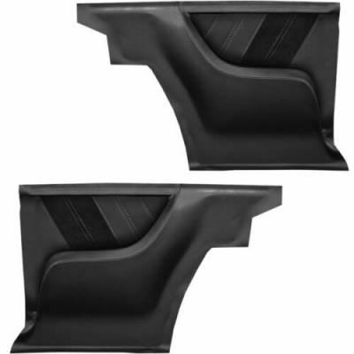 Camaro Upholstery - Door & Quarter Panels - TMI Products - 1967 Camaro Sport R Molded Rear Quarter Panel Set