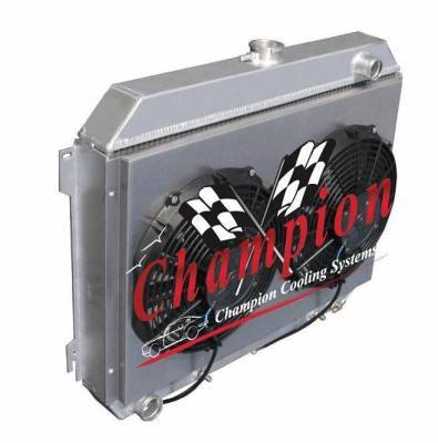 Cooling System - Fans - Champion Cooling Systems - Fan Shroud and Electric Fan Kit for CC369 Radiator