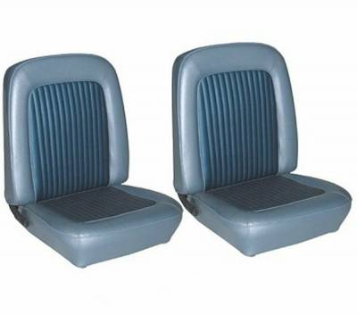 Mustang Upholstery - Seat Upholstery - TMI Products - Standard Upholstery for 1968 Mustang Coupe w/Bucket Seats Front and Rear