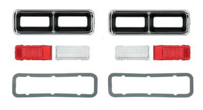Lighting - Tail Lights, Back Up Lights, Marker Lights - OER - 1968 Camaro Complete Replacement Tail Light Set, Bezels, Lens, Right & Left