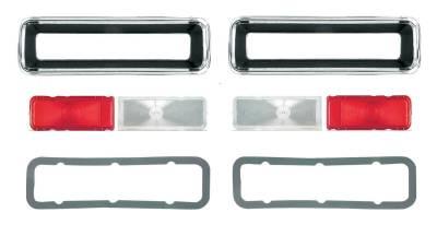 Lighting - Tail Lights, Back Up Lights, Marker Lights - OER - 1967 Camaro Standard Complete Replacement Tail Light Set, Bezels, Lens, Right & Left